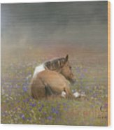 Stopping To Smell The Flowers Wood Print