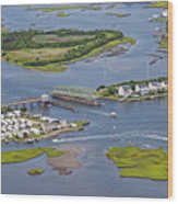 Stopping Traffic Topsail Island Wood Print
