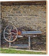 Storage Cove On An 1803 Amish Corn Barn  -  1800scornshellingmachine172835 Wood Print