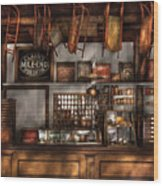 Store - Old Fashioned Super Store Wood Print