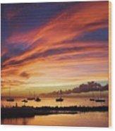 Store Bay, Tobago At Sunset #view Wood Print