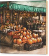 Store - Hoboken Nj - The Fruit Market Wood Print