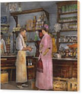 Store - In A General Store 1917 Wood Print