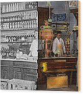 Store - In A General Store 1917 Side By Side Wood Print