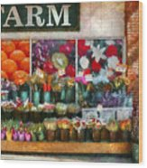 Store - Westfield Nj - The Flower Stand Wood Print