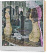 Store Window Stares Wood Print