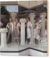 Storefront Window 1982 Wood Print