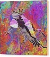 Stork Fly Elegant Feather Bird  Wood Print