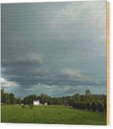 Storm Approaching Wood Print