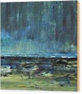 Storm At Sea II Wood Print