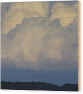 Storm At Sunset Bluestone State Park West Virginia Wood Print