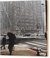 Storm At The Hancock Wood Print
