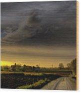 Storm Before Sunset Wood Print
