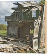 Storm Blown House-1 Wood Print