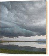 Storm Brewing Wood Print