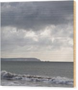 Storm Brewing Over The I O W Wood Print