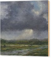 Storm Brewing Over The Refuge Wood Print