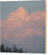 Storm Building On The Sunset Wood Print