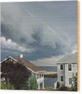 Storm Cloud Over Pigeon Cove Wood Print