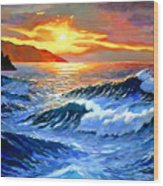 Storm Clouds - Catalina Island Wood Print