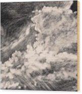 Storm Clouds 2 Wood Print by Elizabeth Lane