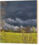 Storm Clouds 2 Wood Print