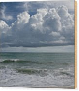 Storm Clouds Above The Atlantic Ocean Wood Print