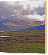 Storm Clouds Ahead In Connemara Wood Print