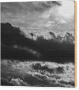 Storm Clouds Wood Print