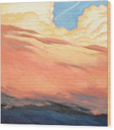 Storm Clouds And Sunsets Wood Print