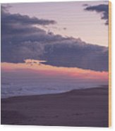 Storm Clouds At Dusk Seaside Nj Wood Print