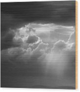Storm Clouds Clearing Wood Print