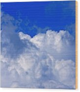 Storm Clouds From Ike Wood Print
