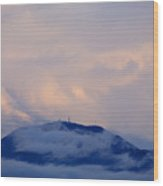 Storm Clouds Gather Over Mountains Wood Print