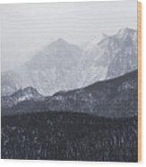 Storm Clouds On Pikes Peak Wood Print