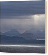 Storm Clouds On The Cuillins Wood Print