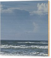 Storm Clouds On The Horizon Ocean Isle North Carolina Wood Print