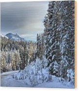 Storm Clouds Over Bow Valley Parkway Wood Print