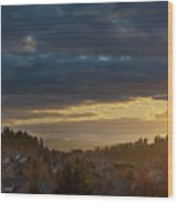 Storm Clouds Over Happy Valley During Sunset Wood Print
