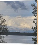 Storm Clouds Over Kentucky Lake Wood Print