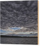 Storm Clouds Over Long Lake Wood Print