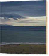 Storm Clouds Over Mono Lake Wood Print
