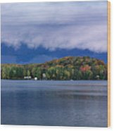 Storm Clouds Over The Lake Of Bays Wood Print