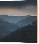Storm Clouds Over The Smokies Wood Print