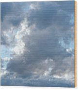 Storm Clouds Passing Wood Print