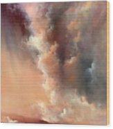 Storm Clouds Rising Wood Print