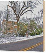 Storm Damage 1  Wood Print