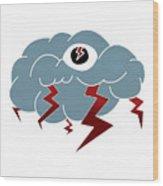 Storm Eye Wood Print