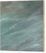 Storm In Deep Ocean Wood Print