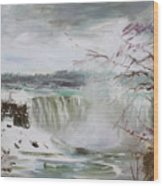 Storm In Niagara Falls  Wood Print